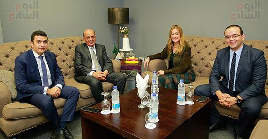 رئيس مجلس الدولة والدكتورة راشا راغب في الأكاديمية الوطنية للتدريب (1)