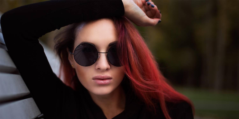 لون شعر الأحمر المحروق