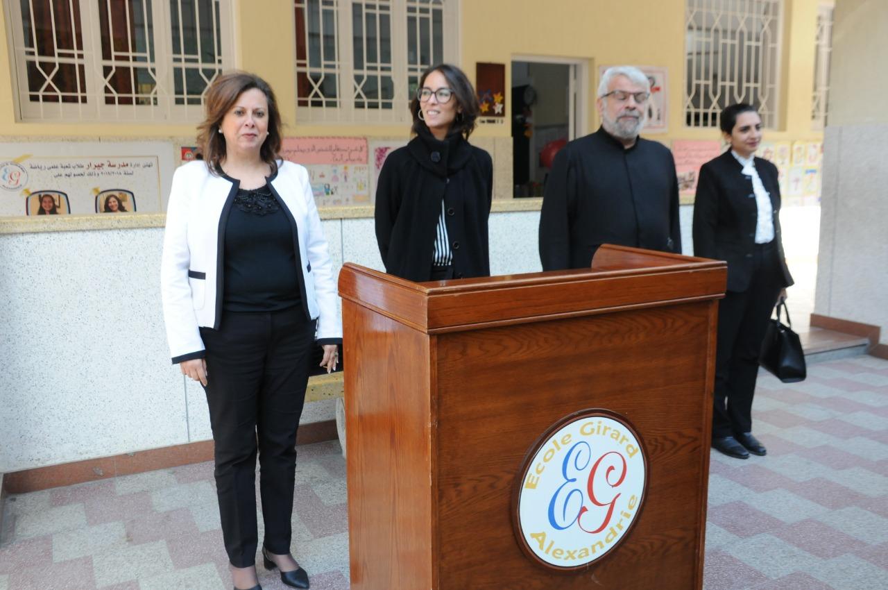 قنصل فرنسا بالإسكندرية تزور مدرسة فرنسية بمناسبة مرور 130عاما على إنشائها (6)