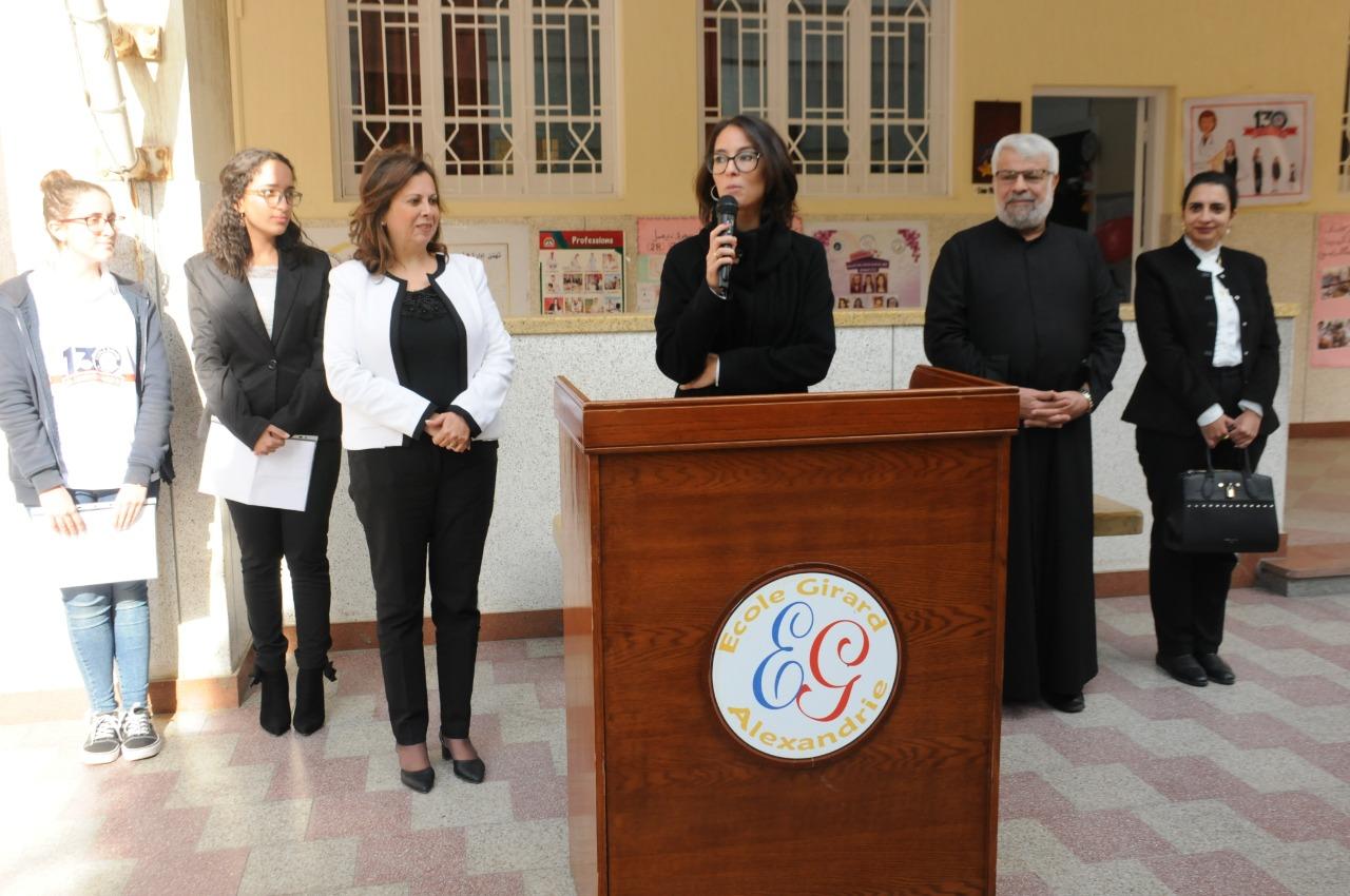 قنصل فرنسا بالإسكندرية تزور مدرسة فرنسية بمناسبة مرور 130عاما على إنشائها (9)