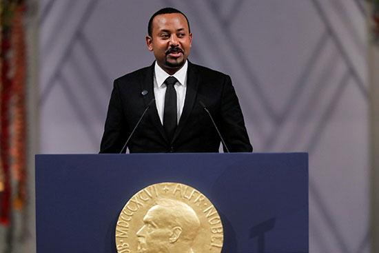 رئيس الوزراء الأثيوبى أبى أحمد يلقى كلمته
