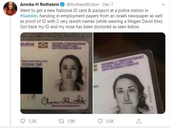صحفية تتهم الشرطة السويدية بمعاداة السامية بسبب هويتها .. اعرف القصة؟  (1)