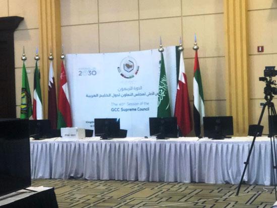 شاهد التجهيزات النهائية للمراكز الإعلامية للقمة الخليجية (3)
