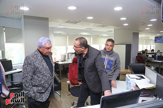 الدكتور زاهى حواس وخالد صلاح وعبد الفتاح عبد المنعم رئيس التحرير التنفيذى لليوم السابع