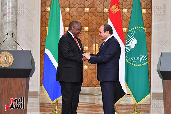 السيسى ورئيس جنوب إفريقيا (3)