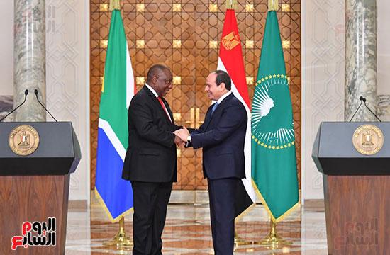 السيسى ورئيس جنوب إفريقيا (4)