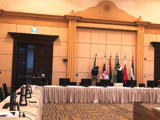 شاهد التجهيزات النهائية للمراكز الإعلامية للقمة الخليجية (1)
