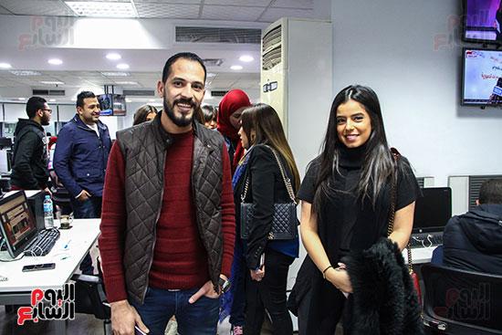 مريم عامر منيب ومحررى اليوم السابع (2)