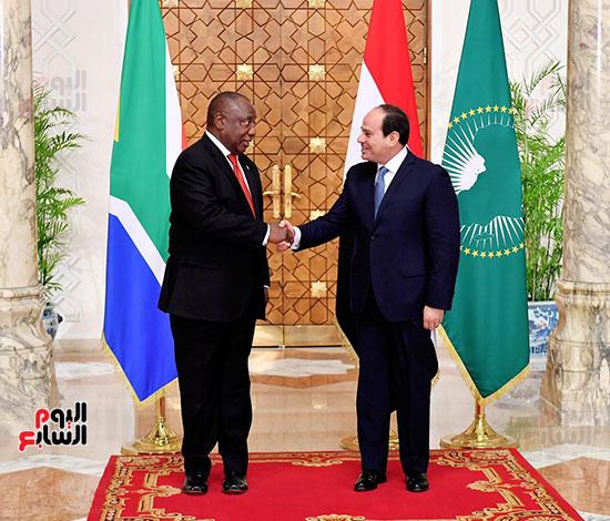 السيسى ورئيس جنوب إفريقيا (2)