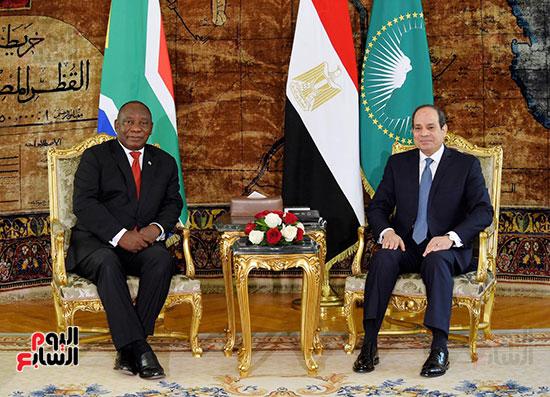 السيسى ورئيس جنوب افريقيا