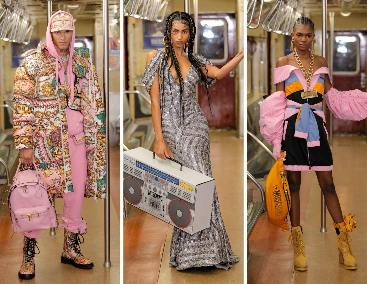 إطلالات مختلفة في عرض أزياء موسكينو