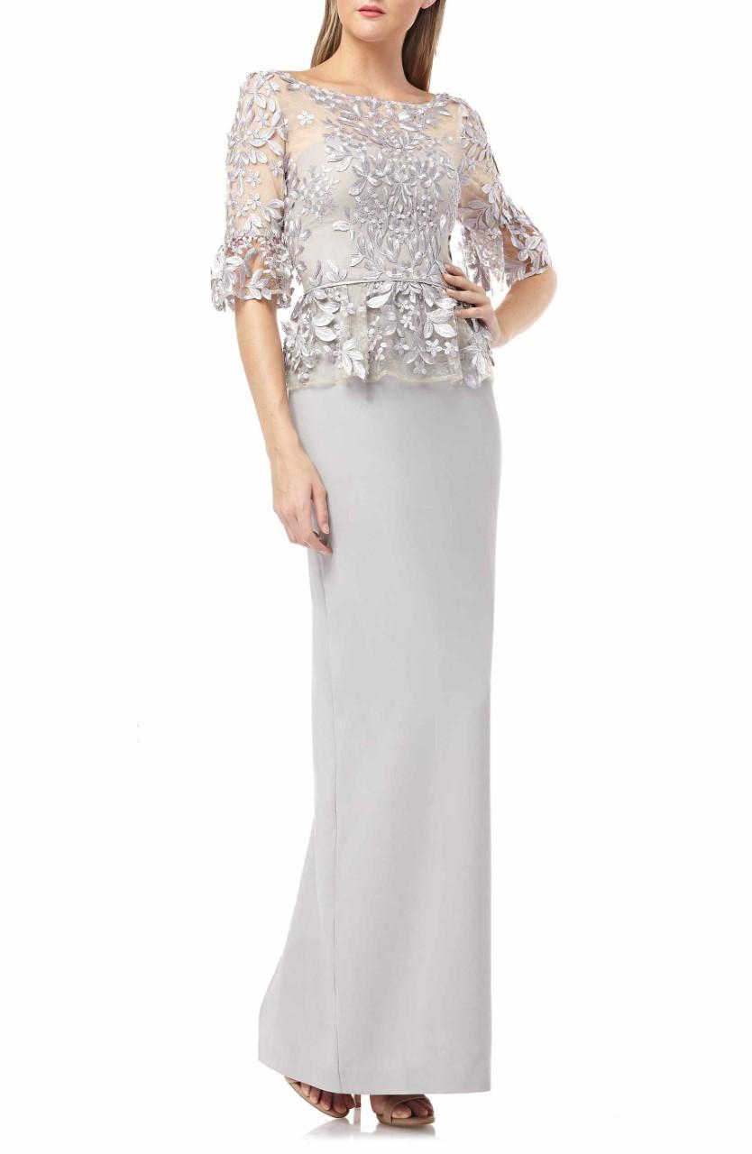 شكل اخر لفستان ام العريس دانتيل