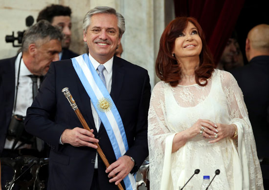 Alberto Fernandez and his wife