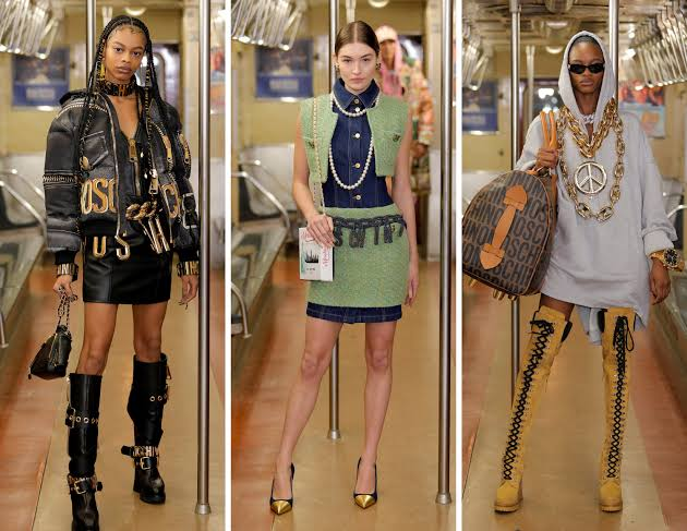 مجموعة أزياء في عرض موسكينو