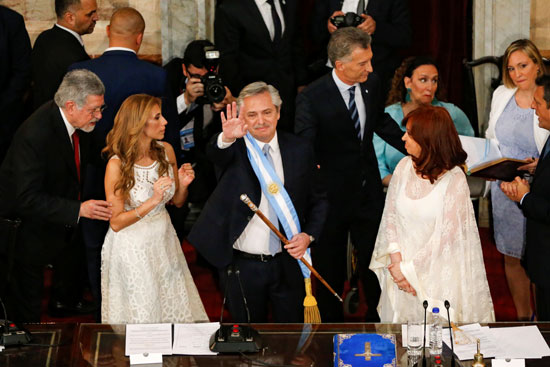 Alberto Fernandez in Parliament