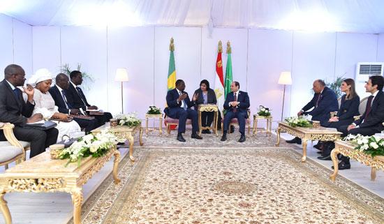 الرئيس-عبد-الفتاح-السيسى-والرئيس-السنغالى-ماكى-سال-(2)