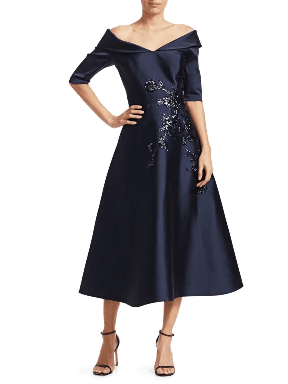 فستان اسود قصير أوف شولدر