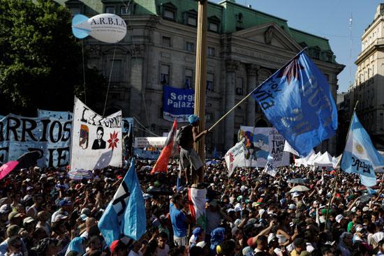Supporters of Alberto Fernandez
