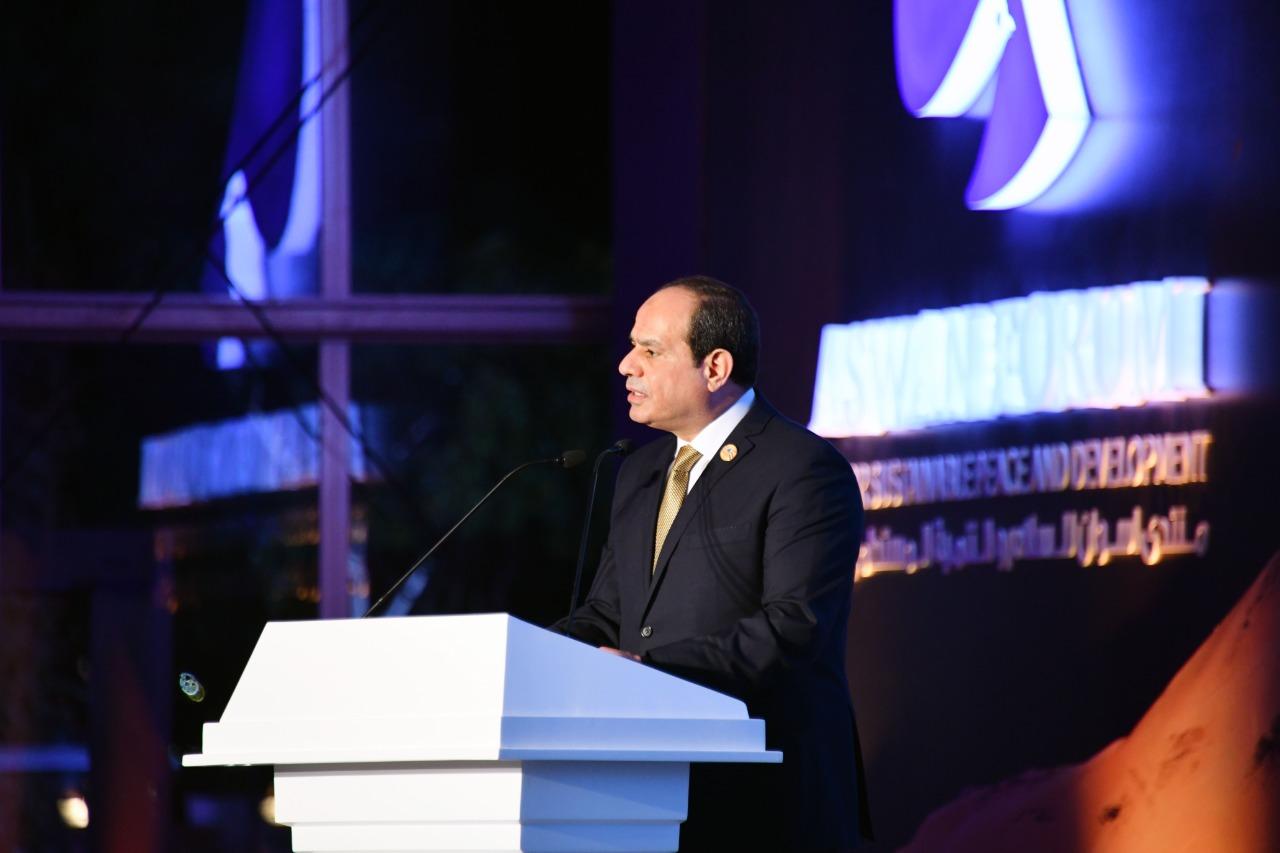 الرئيس عبد الفتاح السيسى خلال كلمته