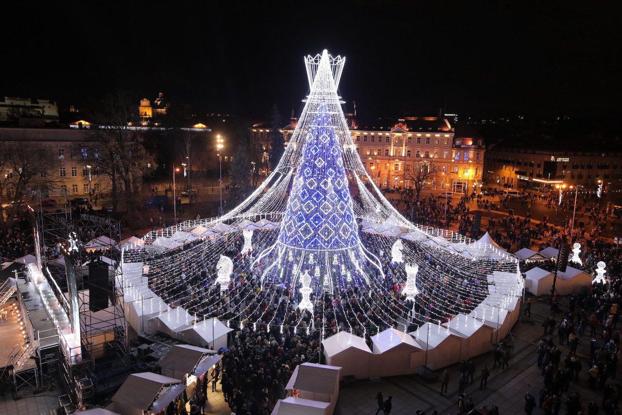 فيلنيوس شجرة عيد الميلاد