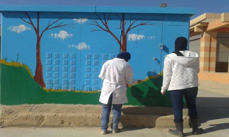 حي السيدة زينب يحول أكشاك الكهرباء للوحات فنية لتجميل الشوارع (2)