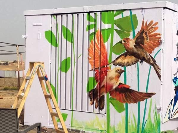حي السيدة زينب يحول أكشاك الكهرباء للوحات فنية لتجميل الشوارع (5)