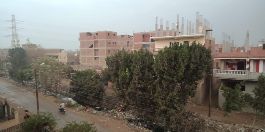 أمطار ورياح شديدة تضرب مدن محافظة القليوبية (3)