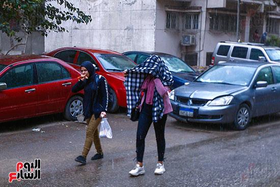 امطار على القاهرة