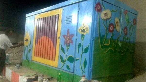 حي السيدة زينب يحول أكشاك الكهرباء للوحات فنية لتجميل الشوارع (6)