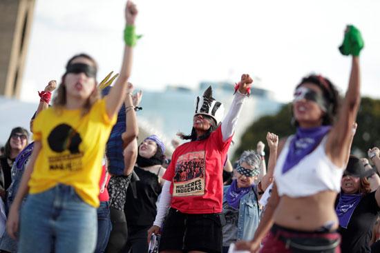 احتجاجات تندد بالعنف ضد المراة