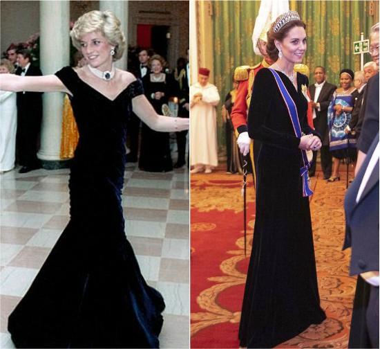 فستان ديانا وفستان كيت مديلتون