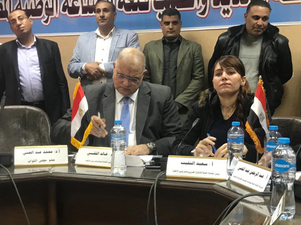 دينا عبد العزيز عضو مجلس النواب وخالد الفقى