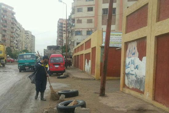 أمطار رعدية غزيرة بالإسكندرية (2)