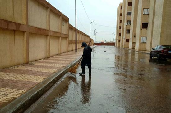 أمطار رعدية غزيرة بالإسكندرية (1)