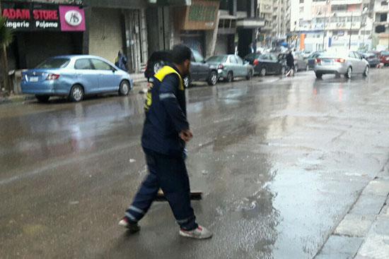 أمطار رعدية غزيرة بالإسكندرية (3)