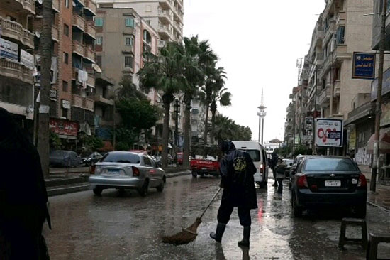أمطار رعدية غزيرة بالإسكندرية (4)