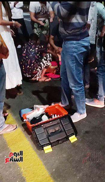 إنقاذ كلب بلدى صدمته سيارة فى شوارع شرم الشيخ (6)