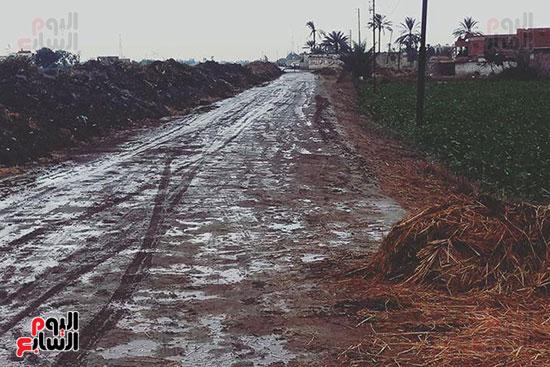 أهالي منشاة أبوعمر يناشدون محافظ الشرقية برصف طريق بحر البقر (4)