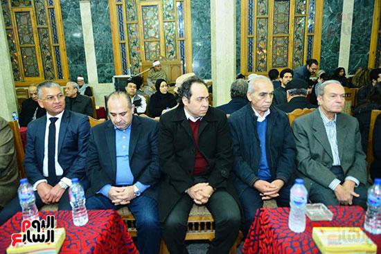 جانب من عزاء المخرج محسن حلمى