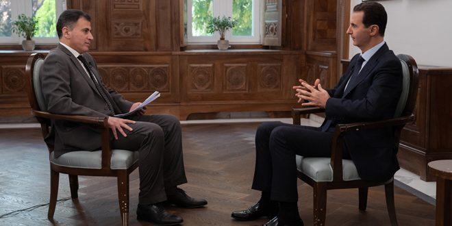 بشار الأسد فى حواره مع قناة فينيكس الصينية