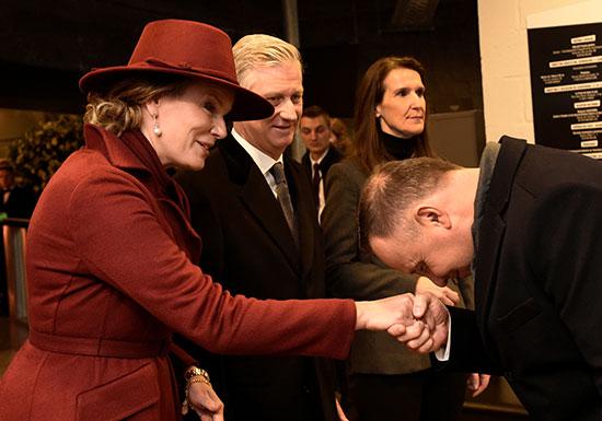 استقبلت ملكة بلجيكا ماتيلد وملك فيليب ورئيس الوزراء صوفي ويلمز الرئيس البولندي أندريه دودا