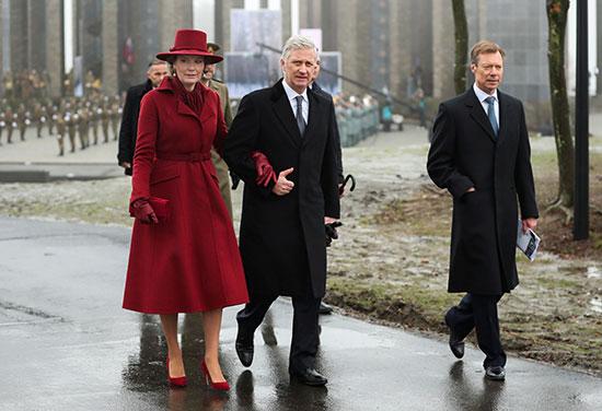ملكة بلجيكا ماتيلد والملك فيليب والدوق الأكبر لوكسمبورج