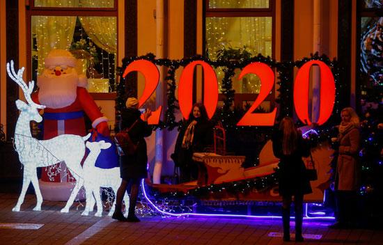 أضواء عيد الميلاد فى بيلاروسيا