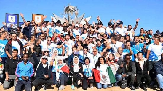 الشباب المشاركون فى ماراثون السلام بشرم الشيخ