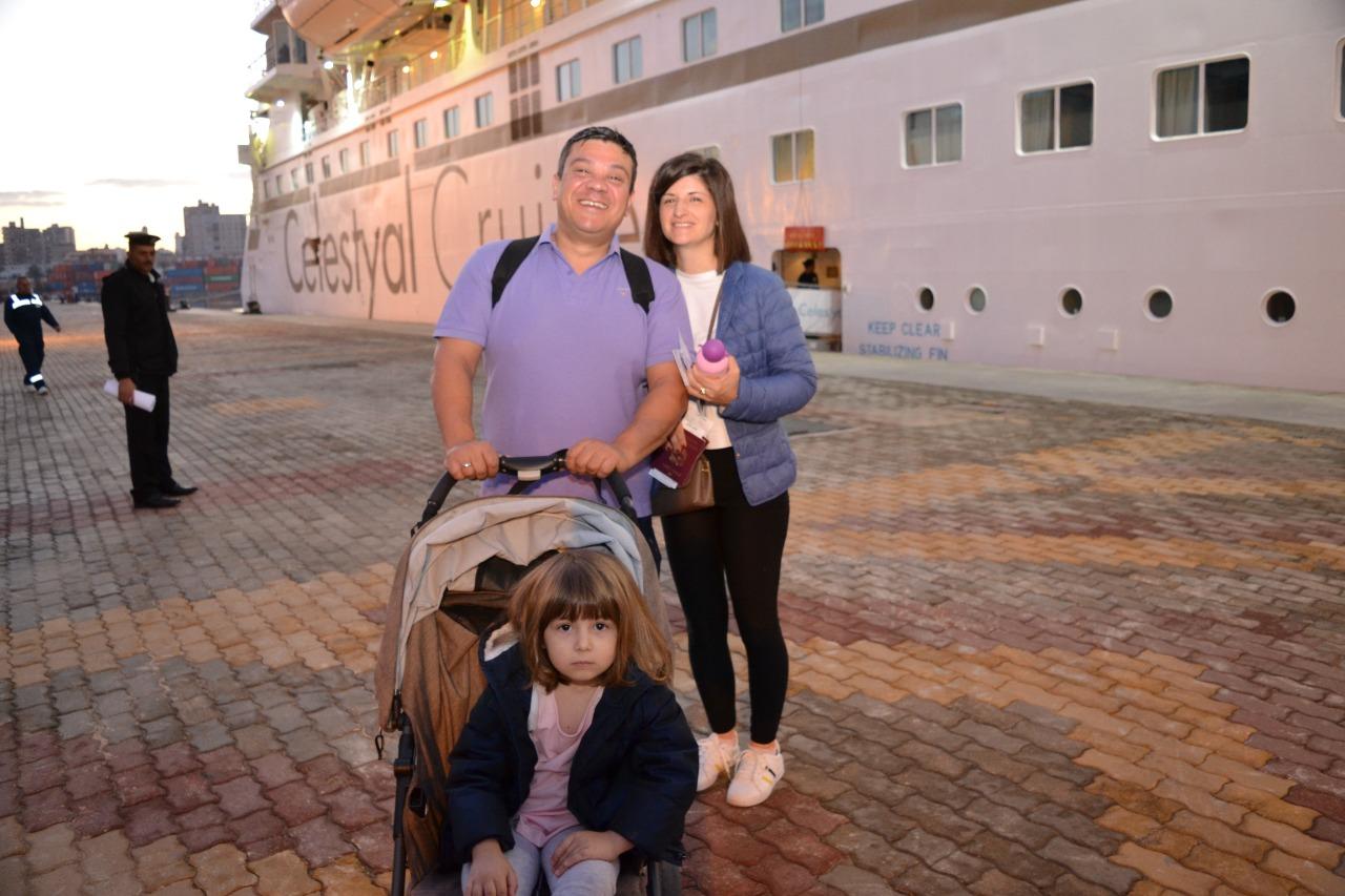 وصول سائحين إلى ميناء الإسكندرية (4)
