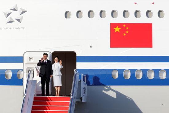 لحظة-وصول-الرئيس-الصينى-إلى-ماكاو