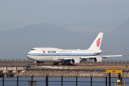 طائرة-شى-لدى-وصولها-إلى-مطار-ماكاو