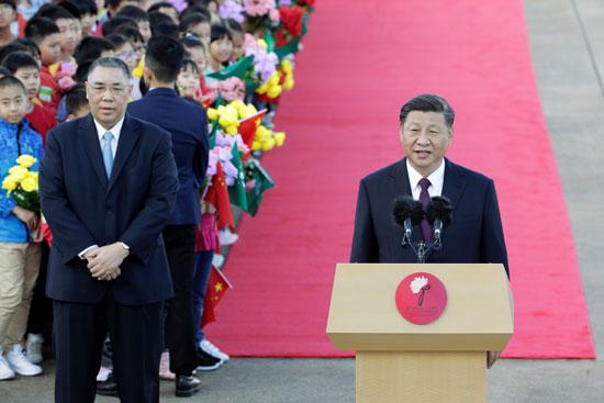 كلمة-الرئيس-الصينى-احتفالا-بعودة-ماكاو-لأحضان-بكين