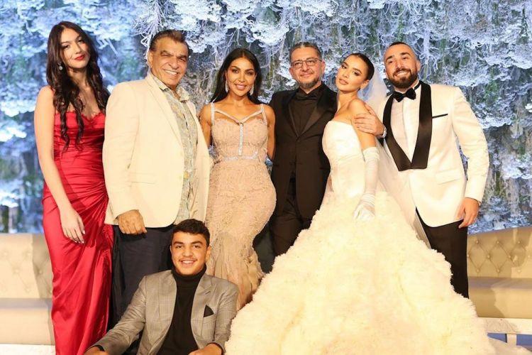 حضور حفل زفاف رانيا فواز