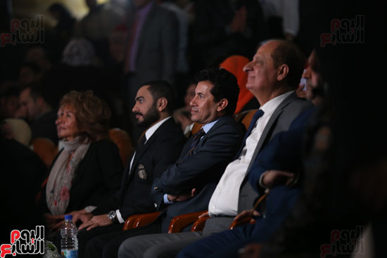 حفل وزارة الشباب لتكريم تامر حسنى بعد دخوله موسوعة جينيس (16)